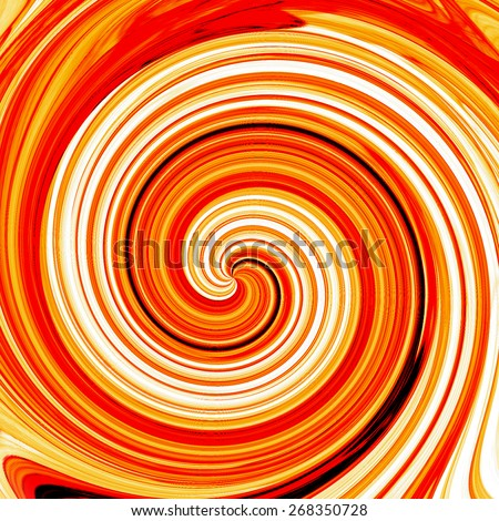 Abstract yellow swirl cream illustration background