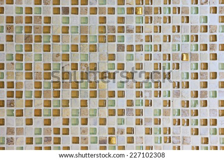 Abstract yellow tone square backgroud - stock photo