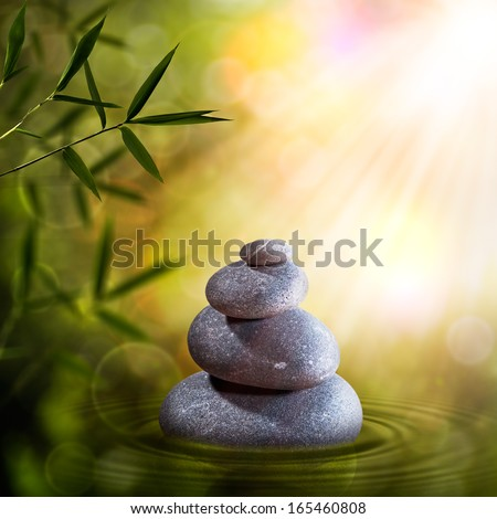 Abstract zen backgrounds for your design - stock photo