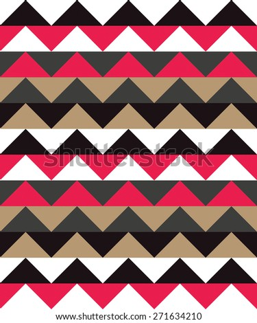 abstract zig zag background wave triangles pattern - stock photo