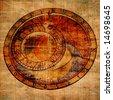 Abstract zodiac clock - stock photo
