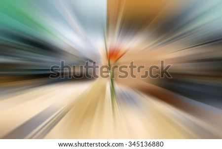 Abstract zoom background or fast blurred background.