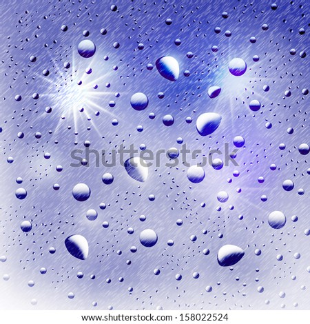 Abstraction. Background from the drops. Illustration. - stock photo