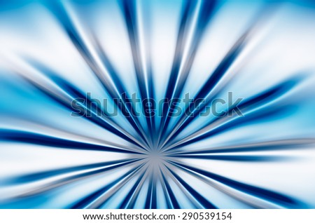 abstraction blue beams - stock photo