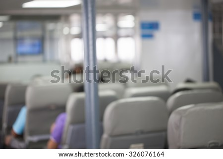 abstraction blurred from passenger seat on ferryboat.