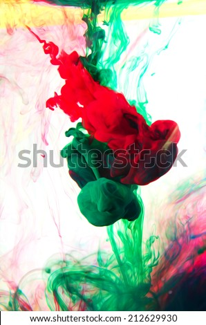 abstraction of colors - stock photo