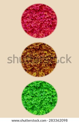 abstraction traffic light. decoration image - stock photo