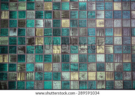 Abtract green square background texture - stock photo