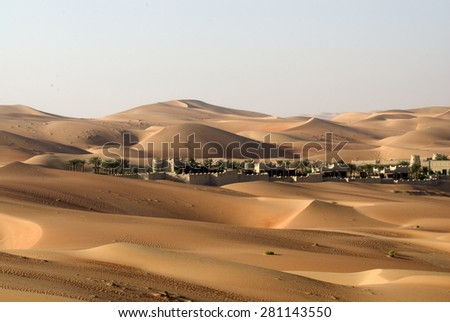 Abu Dhabi desert, UAE - stock photo