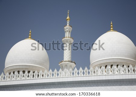 Abu-Dhabi Grand Moss white walls and domes