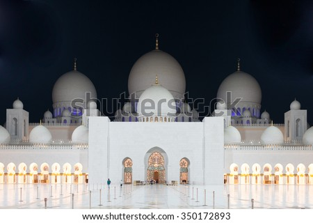 Abu-Dhabi Marble Mosque, nightview