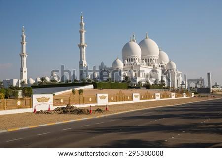 Abu Dhabi. Sheikh Zayed Grand Mosque - stock photo