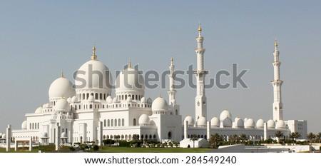 Abu Dhabi Sheikh Zayed Mosque - stock photo