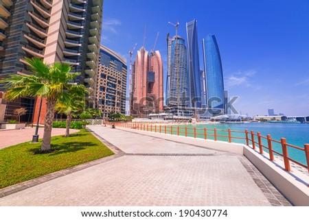 Abu Dhabi, the capital of United Arab Emirates - stock photo