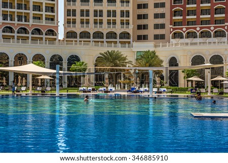 Ritz carlton stock images royalty free images vectors shutterstock for Swimming pool offers in abu dhabi