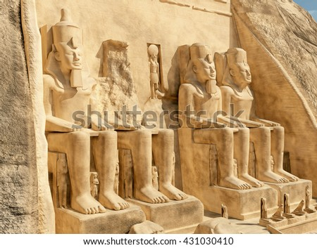 Abu Simbel Computer generated 3D illustration