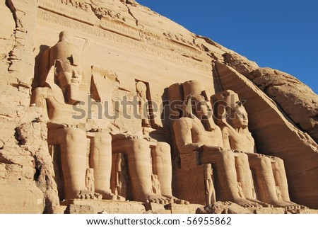 Abu Simbel - Egypt - stock photo