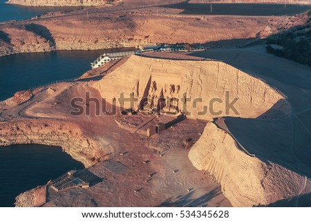 ABU SIMBEL from Above, EGYPT