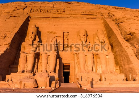 Abu Simbel Temples, Egypt - stock photo