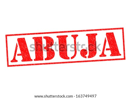 ABUJA (capital of Nigeria) Rubber Stamp over a white background.