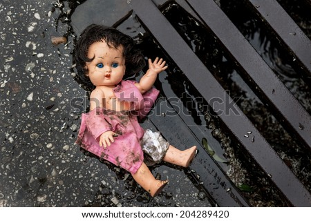 abuse of children as a symbol photo. child abuse and domestic violence - stock photo