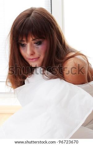 Abused teen girl - stock photo