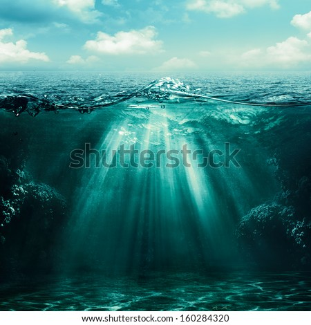 Abyss. Abstract environmental backgrounds for your design - stock photo