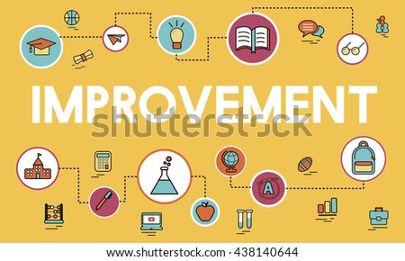 Academic Knowledge Improvement Class Experiment Concept - stock photo