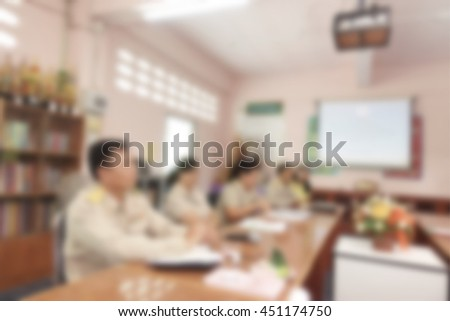 Academy concept on education people in meeting room for lecture and seminar special topic - stock photo