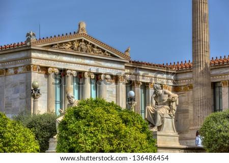 Academy of Athens,Greece - stock photo