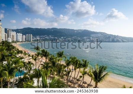 Acapulco beach - stock photo