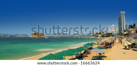 Acapulco beach view - stock photo