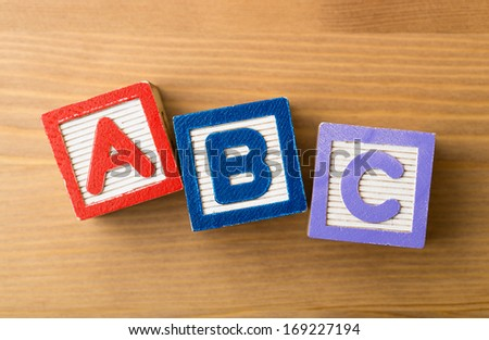 ACB toy block - stock photo