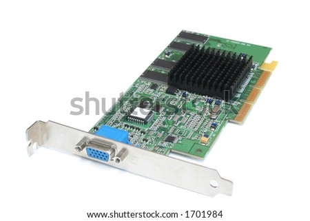 accelerated graphics port with blue connector for monitor output