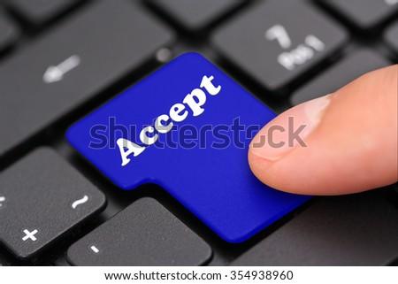 accept - stock photo