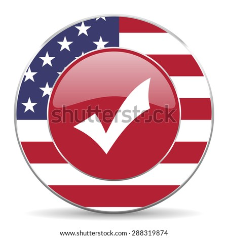 accept american icon original modern design for web and mobile app on white background