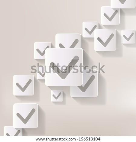 accept web icon - stock photo