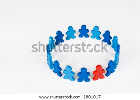 Acceptance - Social and Business concepts illustrated with colorful wooden people. - stock photo
