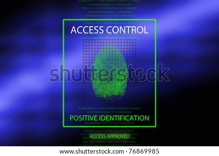 Access approved - stock photo