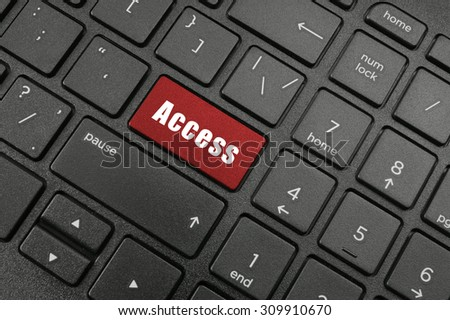 Access button on laptop computer keyboard