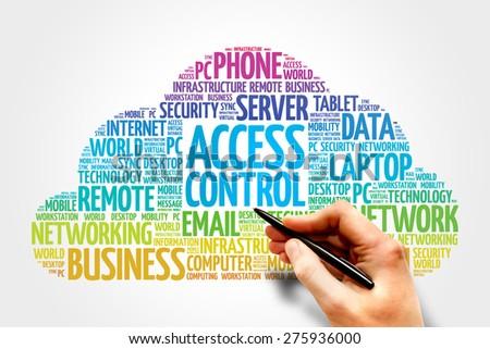 Access control word cloud concept - stock photo