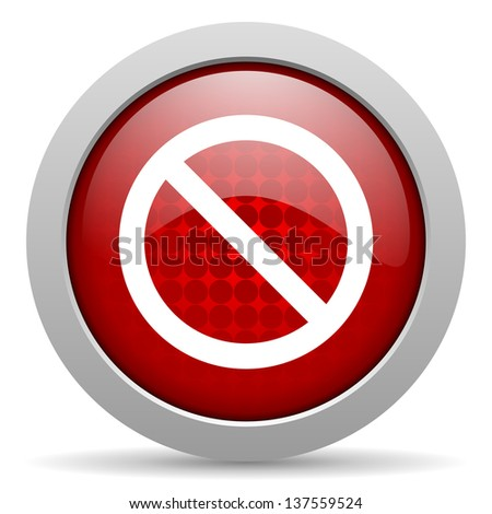 access denied red circle web glossy icon