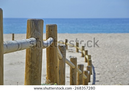 access to the beach - stock photo