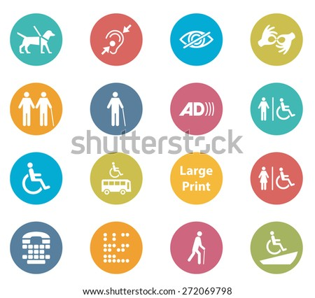 Accessibility Icons - stock photo