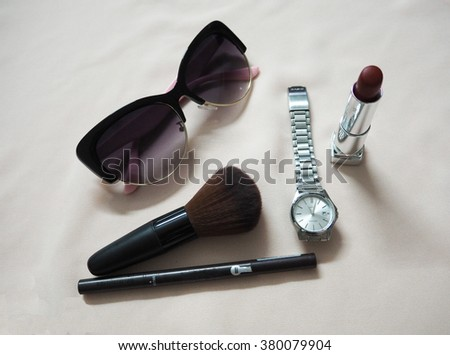 accessories of female for make up and dressing