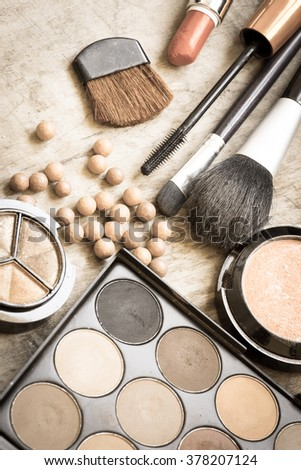 Accessory for make up/toned photo - stock photo