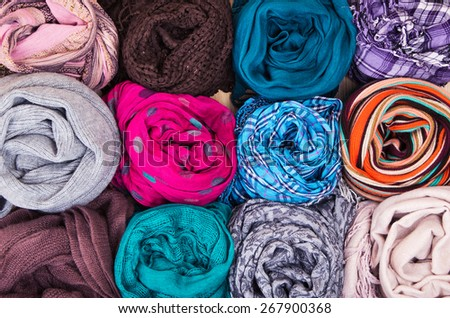 Accessory - Scarfs - Different Textures And Colors / Accessory - Scarfs