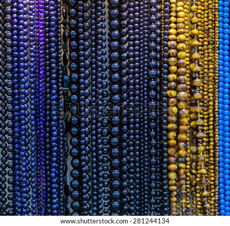 accessory stone beads necklace jewelry collection - stock photo
