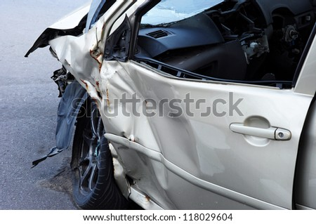 accident car - stock photo