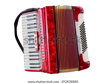 Accordion over white - stock photo
